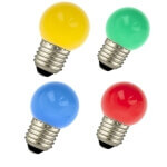 LED lamps drop shaped coloured E27
