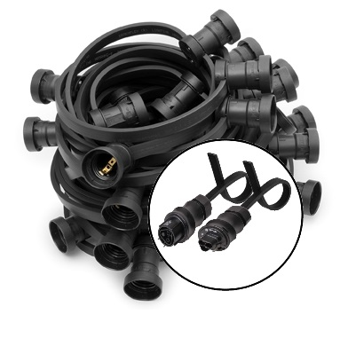 Illumination RST-Connectors E27 black