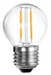 LED filament lamp E27 2W drop shaped clear