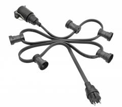 Illumination cord-sets, black, individual