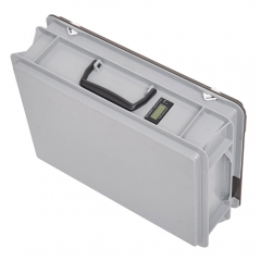 mobile electricity meter case MID with integrated 4-way power strip visible from the outside