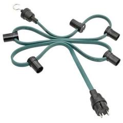 Illumination cord-sets, green, individual