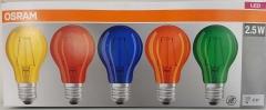 LED Filament Star Classic lamps 2,5W coloured E27 (PU=5 pcs)