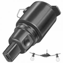 Illumination solid rubber coupler black