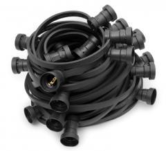 ILLU-Endlos-Lichterkette E27, schwarz, 100m, 300Fassungen