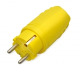 Rubber made plug yellow