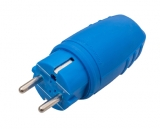 Rubber made plug blue