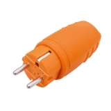 Rubber made plug orange