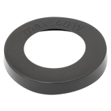PVC gasket black for retro E27 duroplastic socket