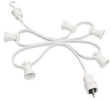 Illumination cord-sets, white, individual