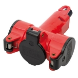 3-way-coupler thermoplast red/black