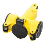 3-way-coupler thermoplast yellow/black