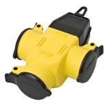 Gummi 3-Wege-Kupplung IP44 gelb/schwarz