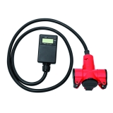 Mobile MID electricity meter plug with 3-way-coupler