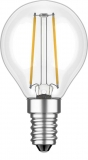 LED filament lamp E14, 0.6W drop shaped, clear