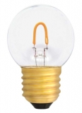 LED filament lamp E27, 0.6W drop shaped, clear