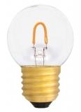 LED Filament Tropfenlampe E27, 0,6W klar warmweiß