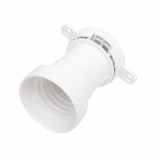 Illumination E27 suspension socket flange mounting white