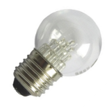 LED lamp E27, 0.6W drop shaped, clear warm opal